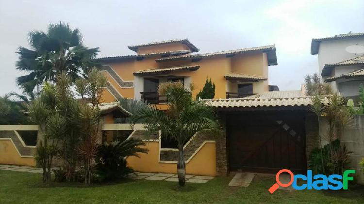 Esplêndido duplex 5 quartos - jardim campomar (pºfechada) - casa alto padrão a venda no bairro jardim campomar - rio das ostras, rj - ref.: ro62660