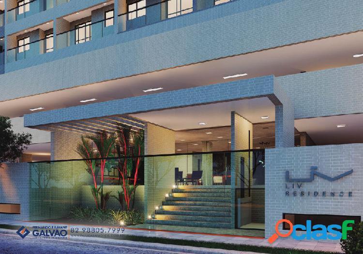 Quarto/sala duplex ÷ em 120 meses 66,65m² 5ª quadra da praia - apartamento a venda no bairro ponta verde - maceió, al - ref.: pi15431