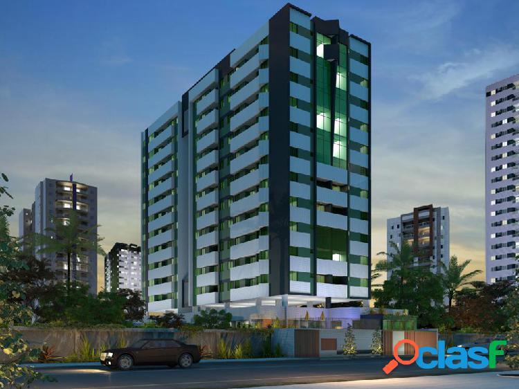 02 quartos, 01 suíte e varanda, 58m² ÷ 80 meses na jatiúca - apartamento a venda no bairro jatiúca - maceió, al - ref.: pi26738