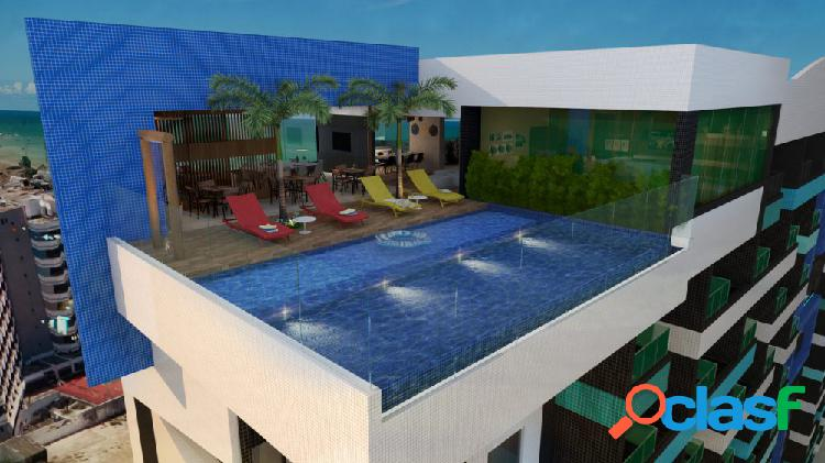 Studio ÷ 72 meses, na 1ª quadra da praia de jatiúca - apartamento a venda no bairro jatiúca - maceió, al - ref.: pi61831