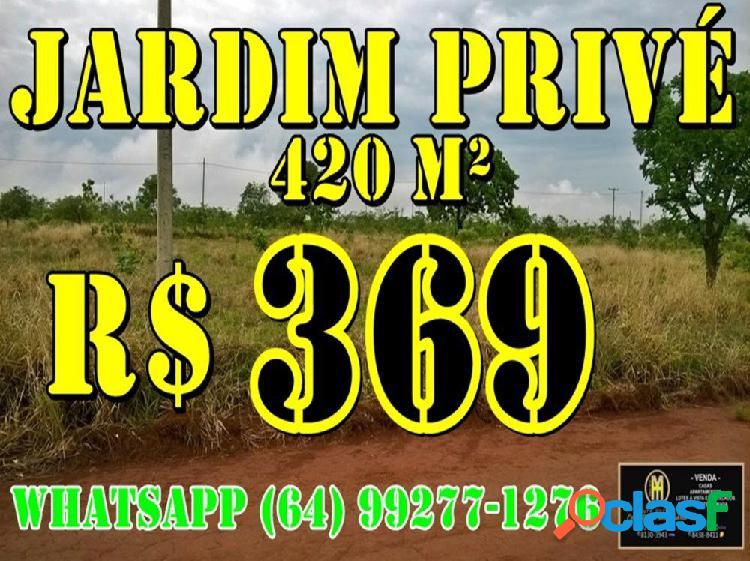 Lote jardim privé parcelado 420 metros - lote a venda no bairro jardim privé das caldas - caldas novas, go - ref.: yh98860
