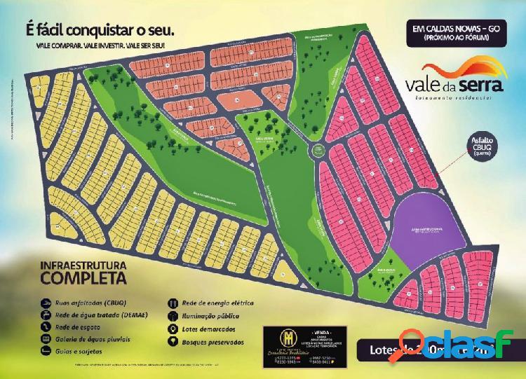 Vale da serra loteamento caldas novas - sítio a venda no bairro estancia boa vista - caldas novas, go - ref.: yh04624