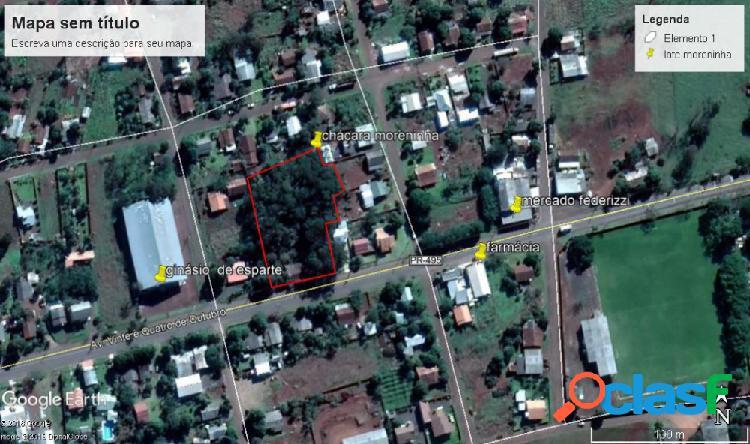 Área comercial centro moreninha - terreno a venda no bairro moreninha - santa helena, pr - ref.: moreninha