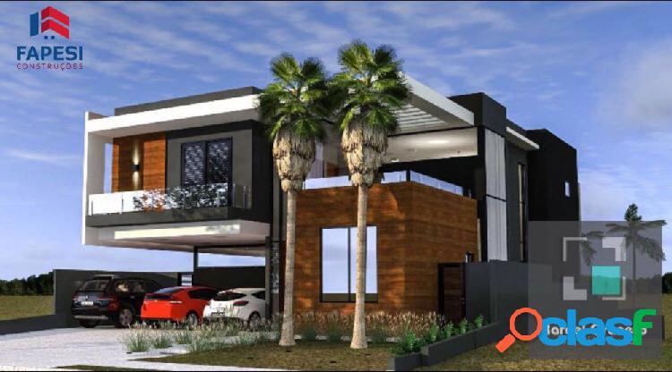 Linda casa condomíno alphaville 3 - 4 suítes - casa alto padrão a venda no bairro bonfim paulista - ribeirão preto, sp - ref.: fa55869