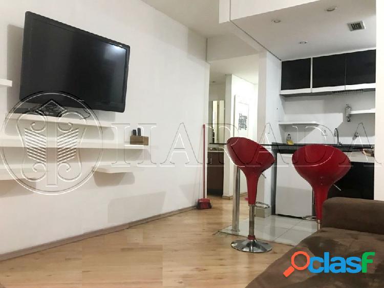 Excelente flat 44m2,1 dm c/vaga em moema - flat a venda no bairro moema - são paulo, sp - ref.: ha300