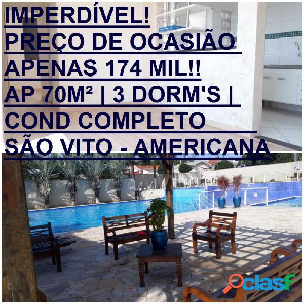 Condomínio residencial américa - apartamento a venda no bairro vila margarida - americana, sp - ref.: evap073