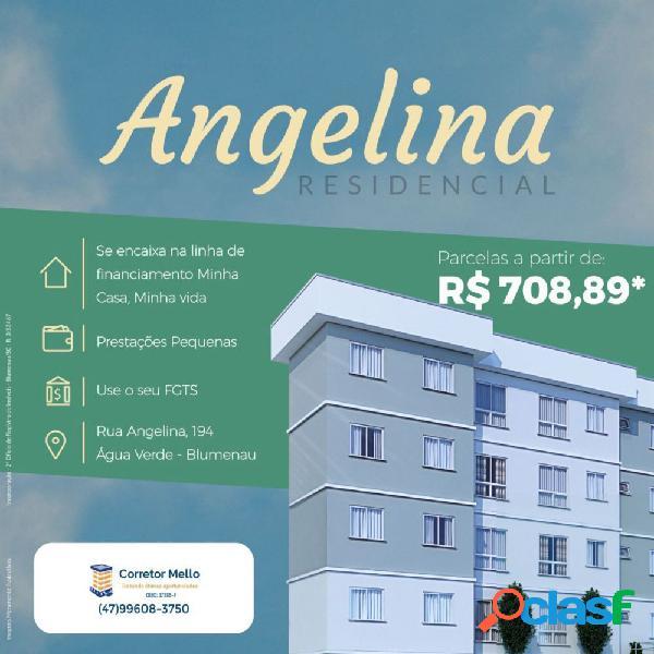 Residencial angelina - apartamento a venda no bairro água verde - blumenau, sc - ref.: co92518