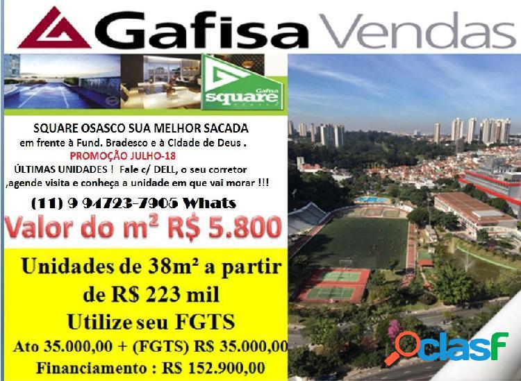 Square osasco cidade de deus - apartamento a venda no bairro vila campesina - osasco, sp - ref.: de76041