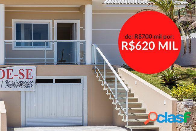 03 suites, nova, òtima localização! - casa a venda no bairro cachoeira do bom jesus - florianópolis, sc - ref.: da038