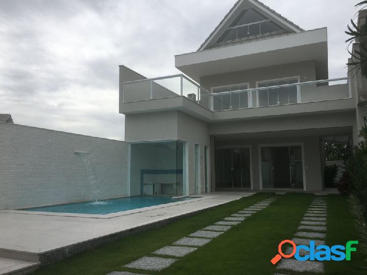 Casa com 5 suítes no riviera del sol - recreio dos bandeiran - casa em condomínio a venda no bairro recreio dos bandeirantes - rio de janeiro, rj - ref.: wa51717