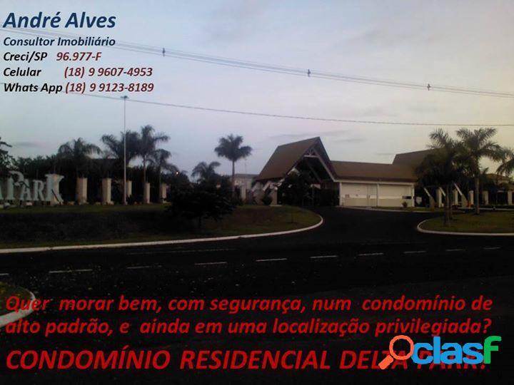 Oportunidade!! terreno no delta park!! - terreno em condomínio a venda no bairro delta park / ipanema - araçatuba, sp - ref.: tv-21