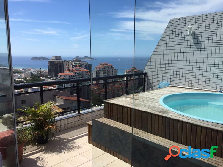 Cobertura maravilhosa com diferencial - cobertura duplex a venda no bairro barra da tijuca - rio de janeiro, rj - ref.: jasol001