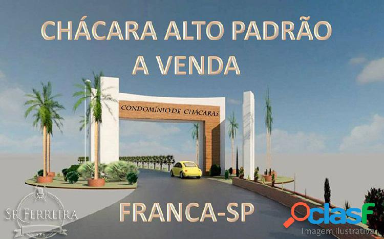 Chácara alto padrão - condomínio fechado - chácara a venda no bairro parque mundo novo - franca, sp - ref.: cha-004