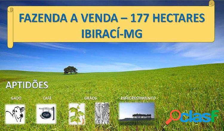 Fazenda a venda em ibirací - mg - fazenda a venda no bairro centro - ibiraci, mg - ref.: faz-005