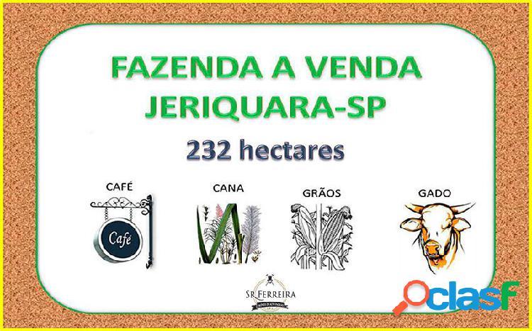 Fazenda a venda em jeriquara 94 alqueires - fazenda a venda no bairro centro - jeriquara, sp - ref.: faz-010