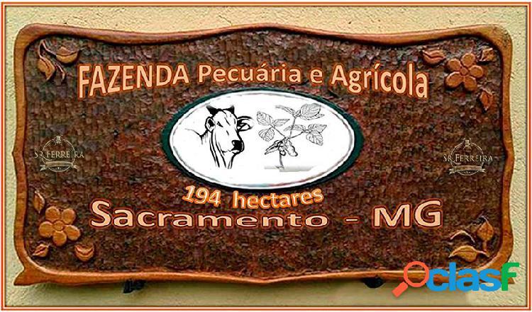 Fazenda a venda em sacramento-mg - fazenda a venda no bairro centro - sacramento, mg - ref.: faz-009
