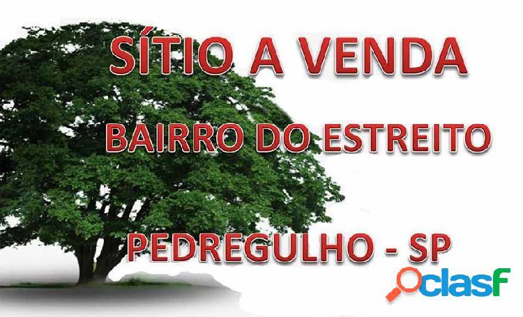 Sítio a venda região de franca-sp - sítio a venda no bairro estreito - pedregulho, sp - ref.: sit-004