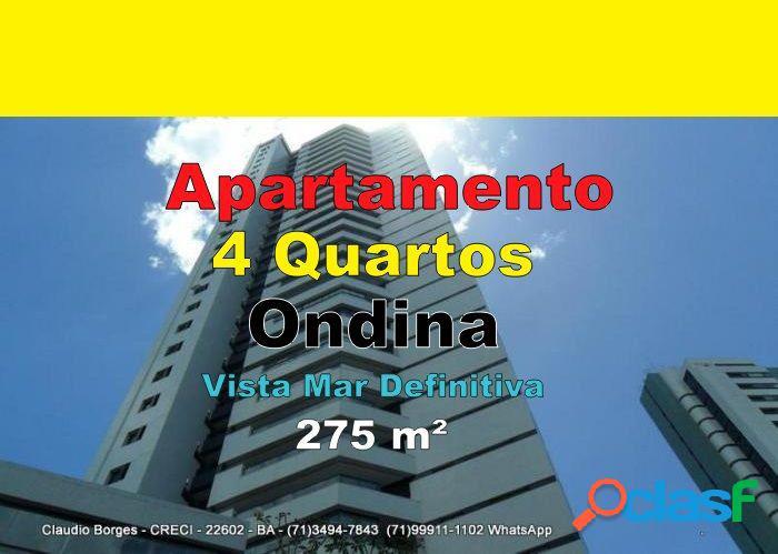 Apartamento alto padrão a venda no bairro ondina - salvador, ba - ref.: ap410100