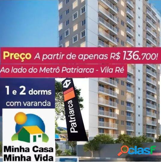 Minha casa minha vida c/ terraço, vaga e lazer completo. - apartamento a venda no bairro vila ré - são paulo, sp - ref.: en42914