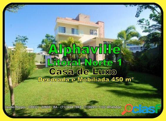 Alphaville litoral norte 1 - casa em condomínio a venda no bairro alphaville litoral norte - camaçari, ba - ref.: ca490007