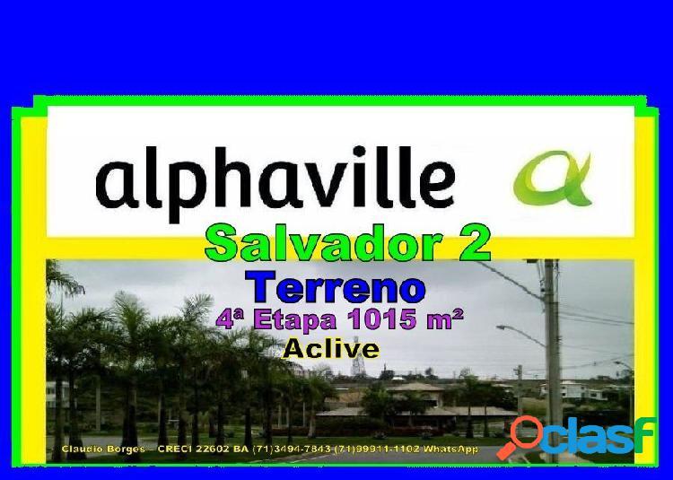 Alphaville salvador 2 - terreno em condomínio a venda no bairro alphaville ii - salvador, ba - ref.: te220032