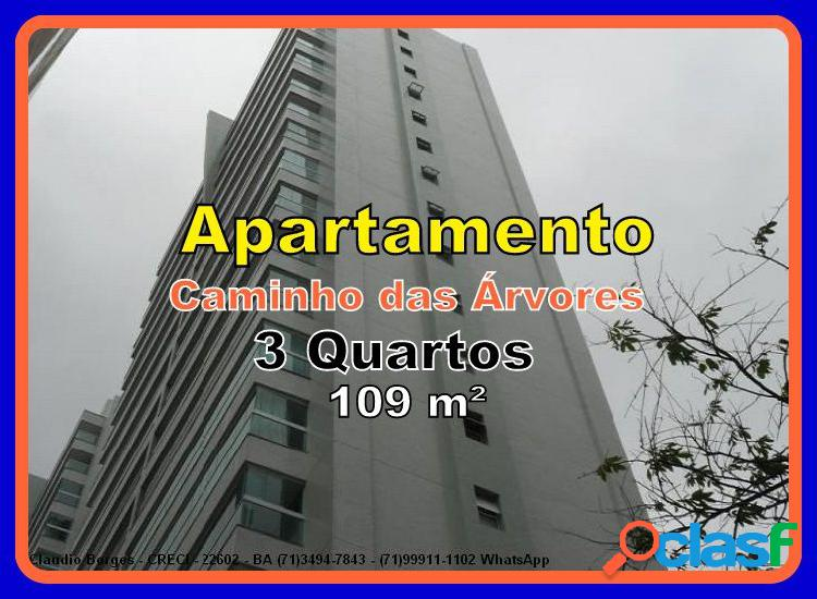 Apartamento a venda no bairro caminho das árvores - salvador, ba - ref.: ap360003