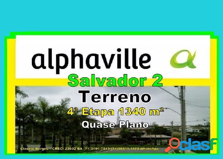 Alphaville salvador 2 - terreno em condomínio a venda no bairro alphaville ii - salvador, ba - ref.: te220031