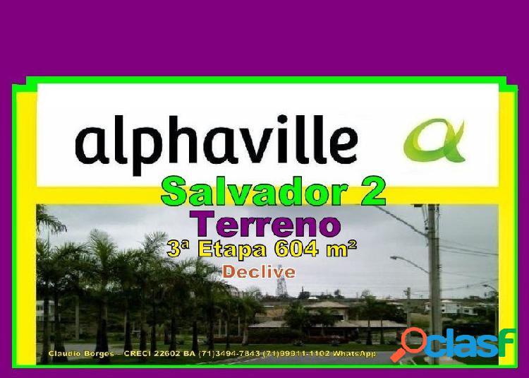 Alphaville salvador 2 - terreno em condomínio a venda no bairro alphaville ii - salvador, ba - ref.: te220007