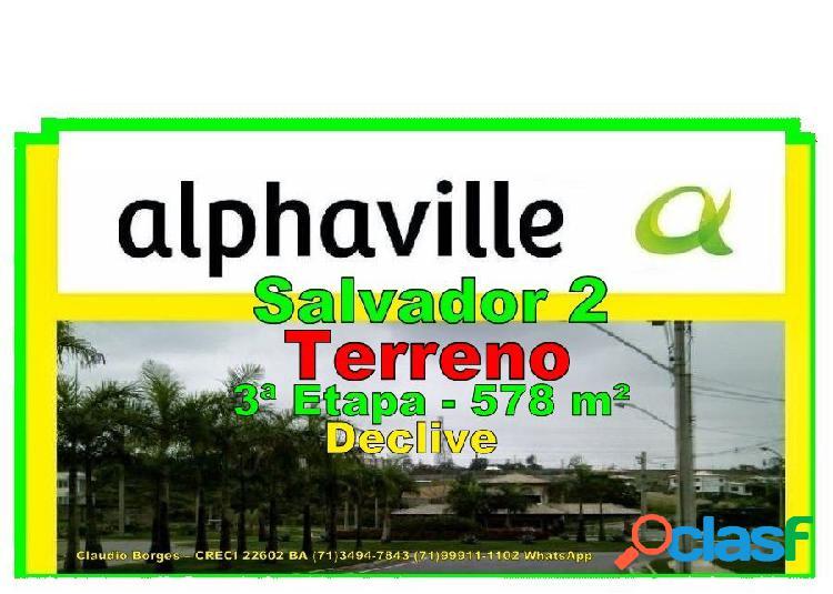 Alphaville salvador 2 - terreno em condomínio a venda no bairro alphaville ii - salvador, ba - ref.: te220023