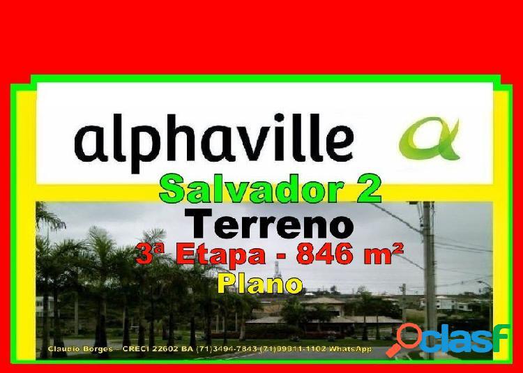 Alphaville salvador 2 - terreno em condomínio a venda no bairro alphaville ii - salvador, ba - ref.: te220009