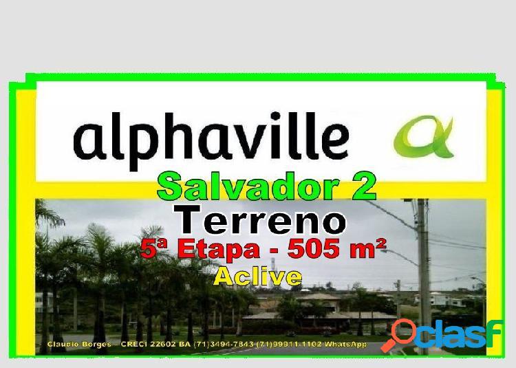 Alphaville salvador 2 - terreno em condomínio a venda no bairro alphaville ii - salvador, ba - ref.: te220026