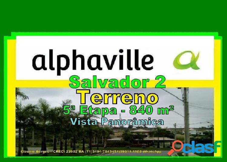Alphaville salvador 2 - terreno em condomínio a venda no bairro alphaville ii - salvador, ba - ref.: te220013