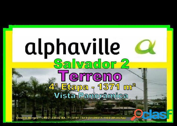Alphaville salvador 2 - terreno em condomínio a venda no bairro alphaville ii - salvador, ba - ref.: te220017