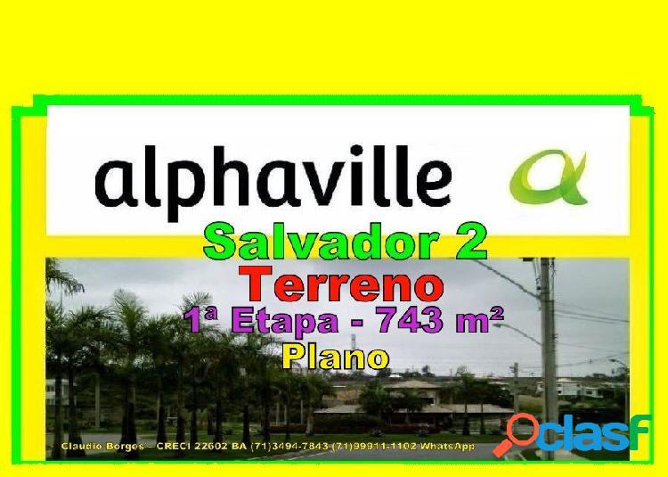 Alphaville salvador 2 - terreno em condomínio a venda no bairro alphaville ii - salvador, ba - ref.: te220051
