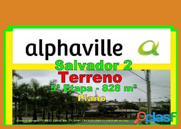 Alphaville salvador 2 - terreno em condomínio a venda no bairro alphaville ii - salvador, ba - ref.: te220046