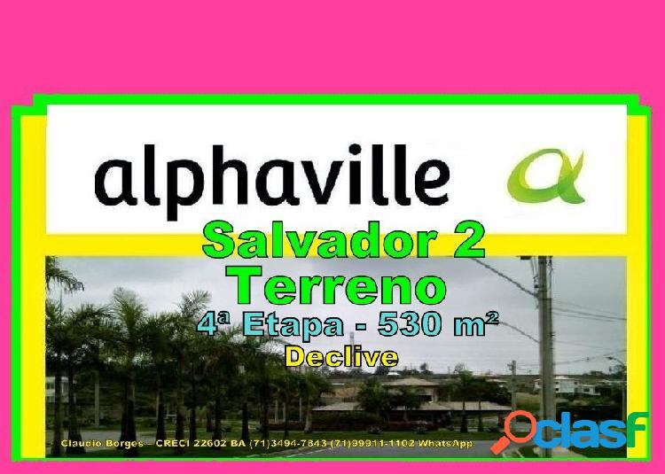 Alphaville salvador 2 - terreno em condomínio a venda no bairro alphaville ii - salvador, ba - ref.: te220050