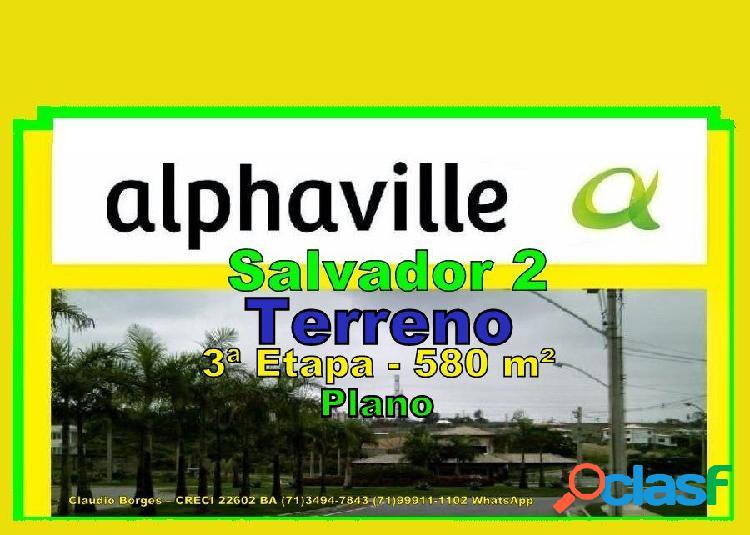 Alphaville salvador 2 - terreno em condomínio a venda no bairro alphaville ii - salvador, ba - ref.: te220045