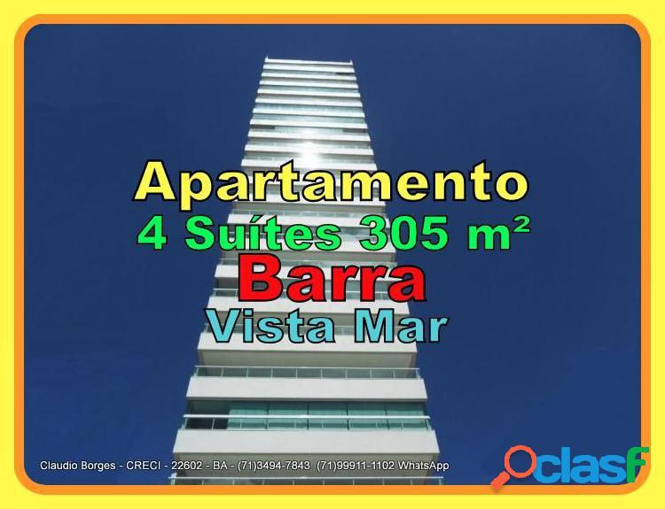 Apartamento alto padrão a venda no bairro barra - salvador, ba - ref.: ap410004