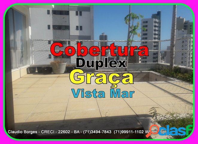 Cobertura duplex a venda no bairro graça - salvador, ba - ref.: co410001