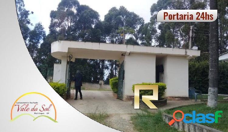 Loteamento fechado vale do sol 1.000m² - mairinque/sp - terreno em condomínio a venda no bairro moreiras - mairinque, sp - ref.: vs46108