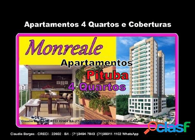 Monreale pituba - apartamento em lançamentos no bairro pituba - salvador, ba - ref.: ap460070