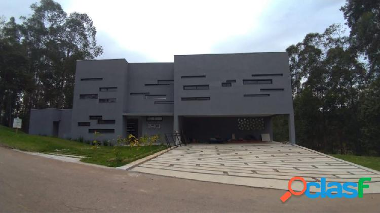 Condominio serra dos cristais - casa alto padrão a venda no bairro fazenda velha - cajamar, sp - ref.: hg79561