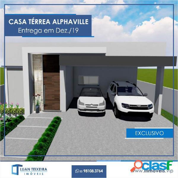 Casa térrea alphaville - casa em condomínio a venda no bairro laranjal - pelotas, rs - ref.: 021