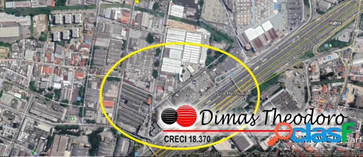 Vd terreno 1.350 m² comercial rua cavadas guarulhos sp