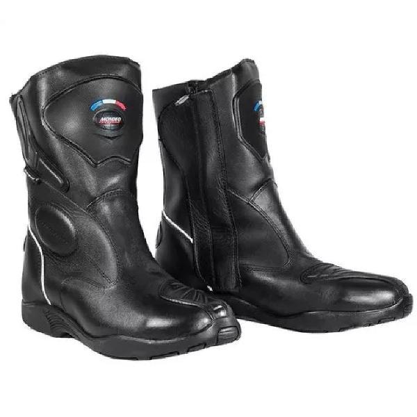 Bota proteção moto mondeo masculina couro leather dry evo3