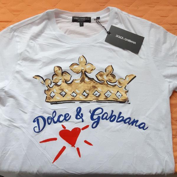 Camiseta dolce e gabanna importada original nova