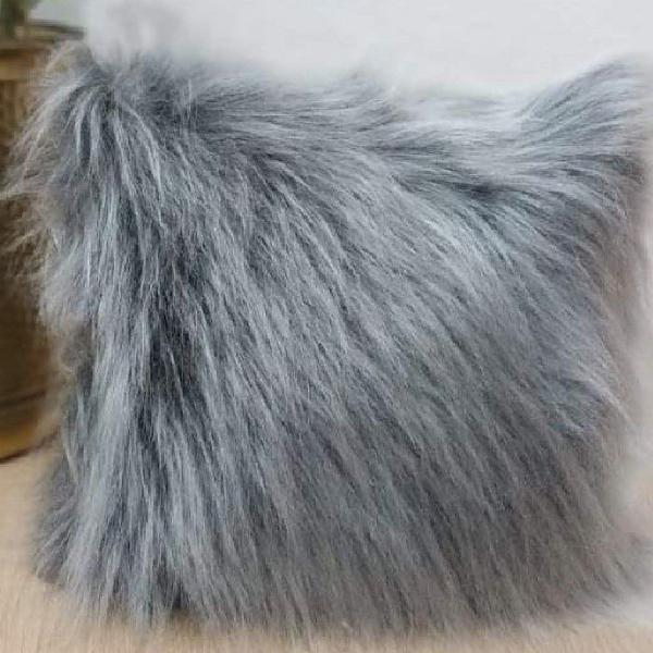 Capa de almofada 40x40 pelúcia longa luxo várias cores