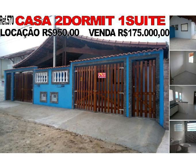 Casa 2dormit Locação R$950,00 Venda R$175.000,00 em