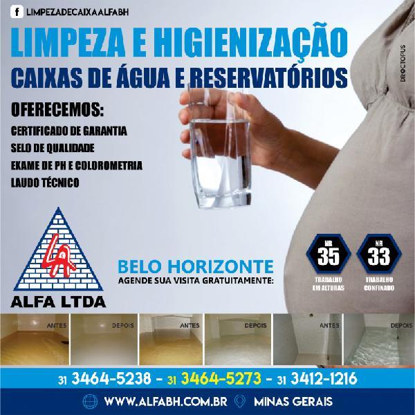 Limpeza Higienização de Caixa de Água e Cisternas
