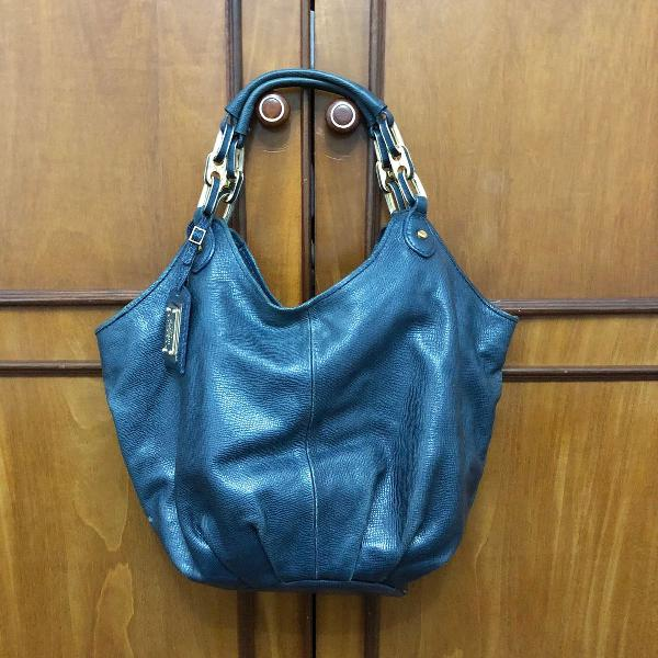 Bolsa corello couro azul